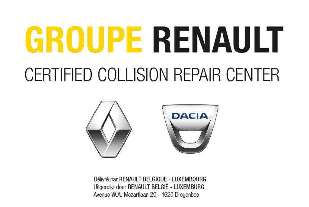 Erkend hersteller Renault/Dacia